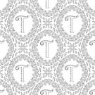 Letter T Black And White Wreath Monogram Initial by theartofvikki