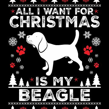 Merry Christmas Beagle Lover Gift by BBPDesigns