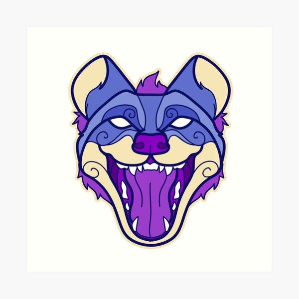 Tribal  Hyena Art Print