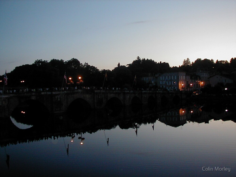 Confolens Bridge at Nightfall by Colin Morley