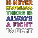 The Future Is Never Hopeless There Is Always A Fight To Fight by dreamhustle