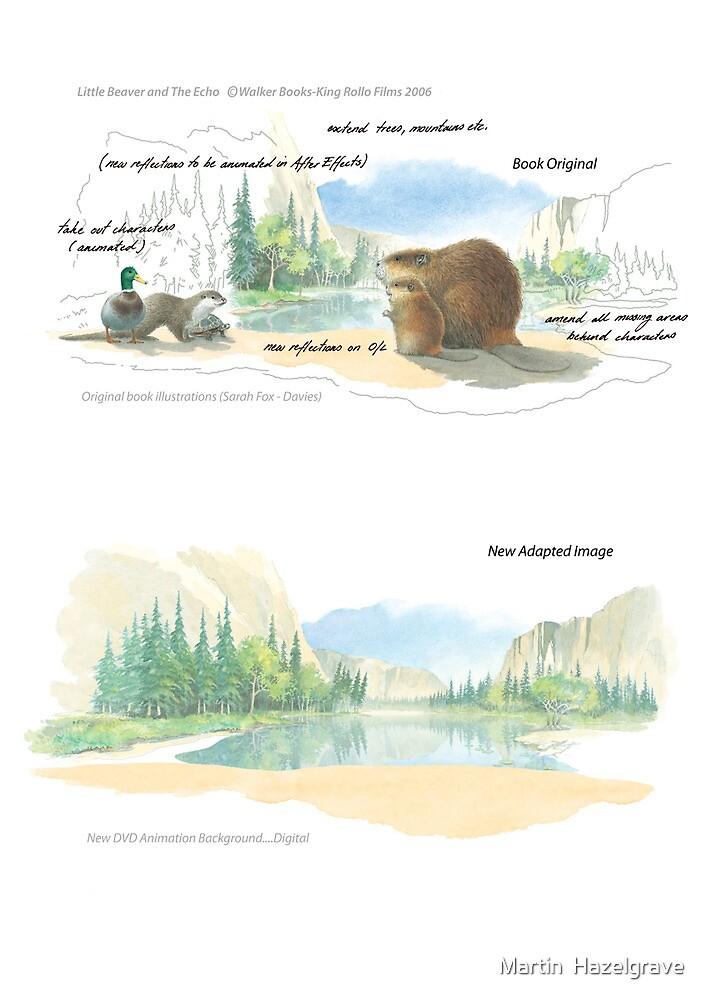 Book Adaptation....The Little Beaver and the Echo by Martin  Hazelgrave