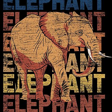 Elephant animal by GeschenkIdee