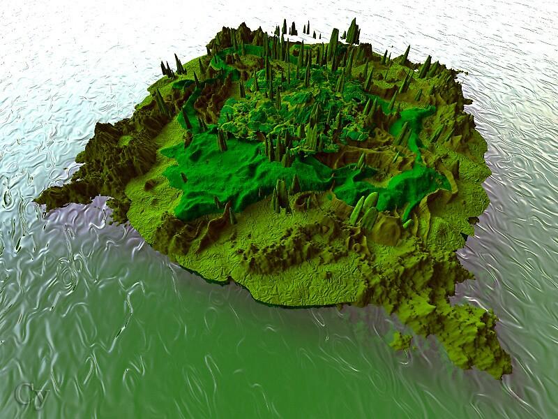 îlot verdoyant by Yves313