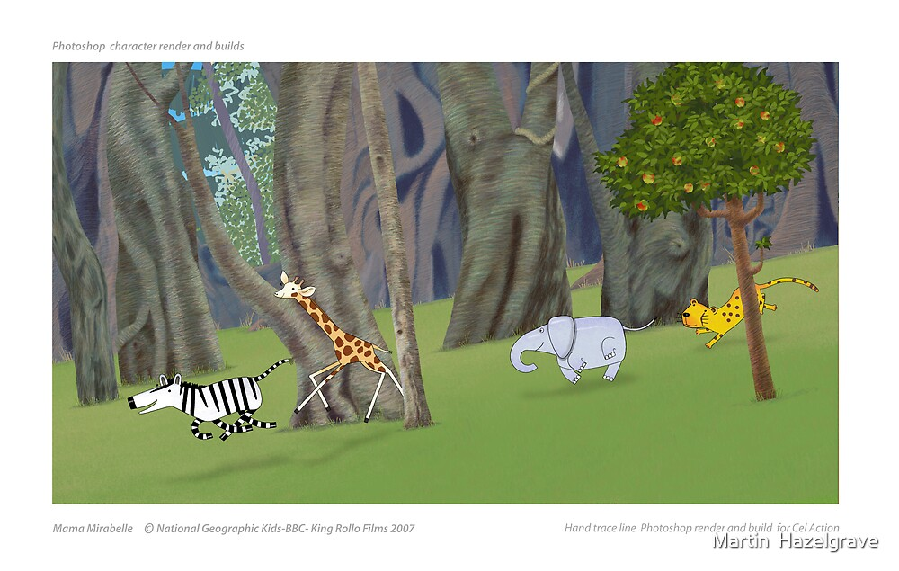 Mama Mirabelle ...Animation Backgrounds by Martin  Hazelgrave