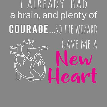 Top New Heart Transplant Courage Wizard Design Pink by LGamble12345