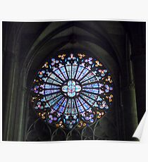 Church Window in Carcassonne Poster