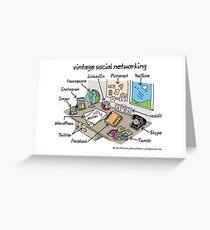 vintage social networking Greeting Card