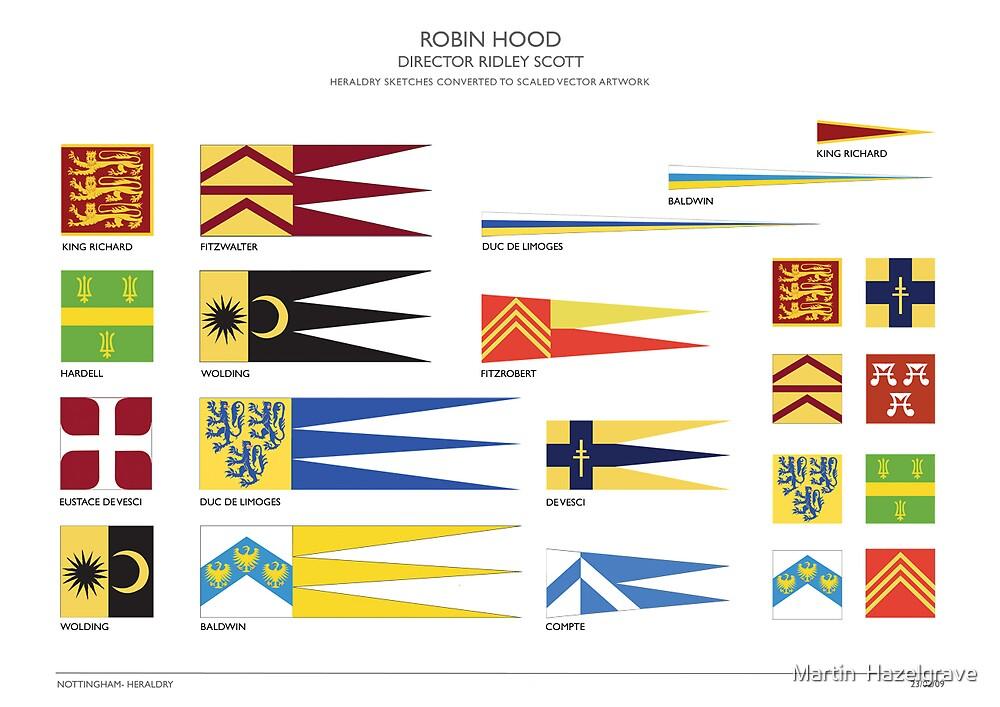 Robin Hood Heraldry by Martin  Hazelgrave