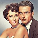 Elizabeth Taylor and Montgomery Clift, Hollywood Legends by SerpentFilms