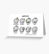 elefonts Greeting Card