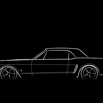 1965 Ford Mustang - profile stencil, white by mal-photography