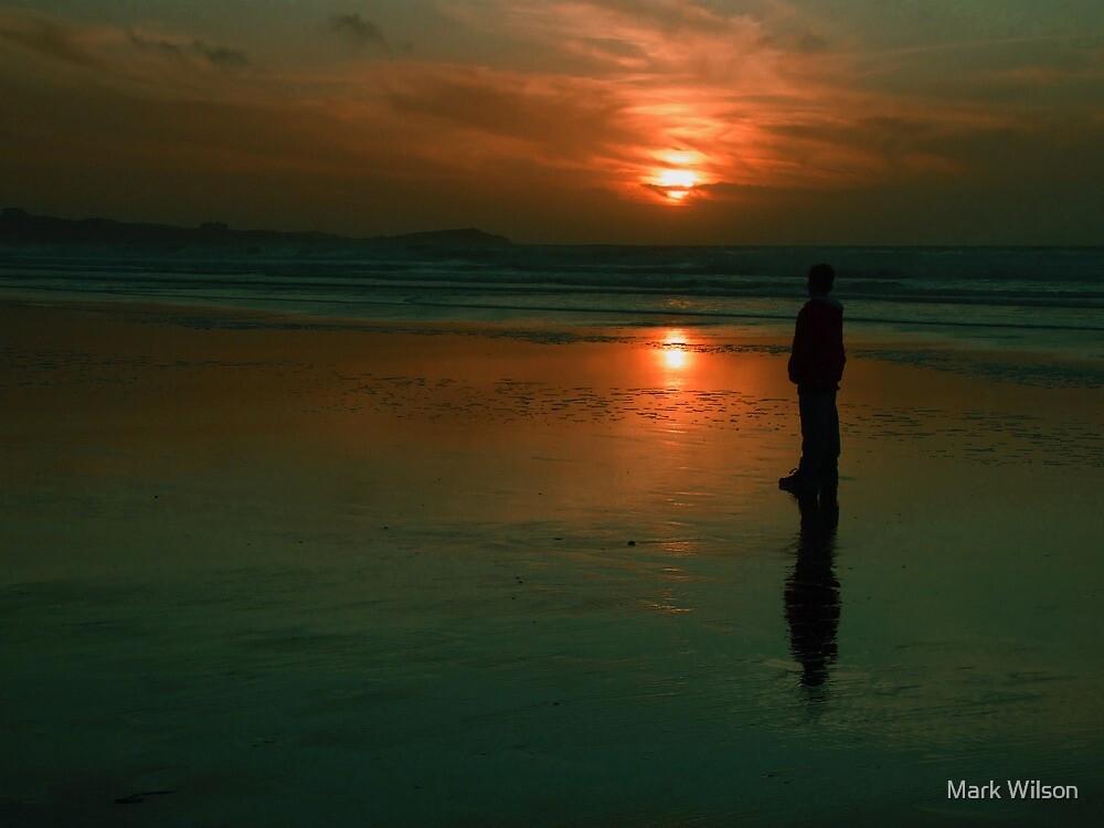 Watergate Bay Sunset by Mark Wilson