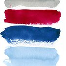 December -- Blue, Cranberry, Grey Color Palette by teekastreasures