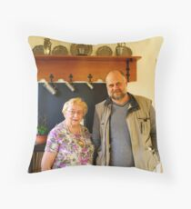 Memorable international afternoon! Throw Pillow