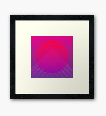 Neon Rise Framed Print