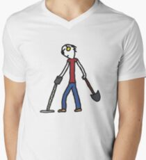 Metal Detecting Men's V-Neck T-Shirt