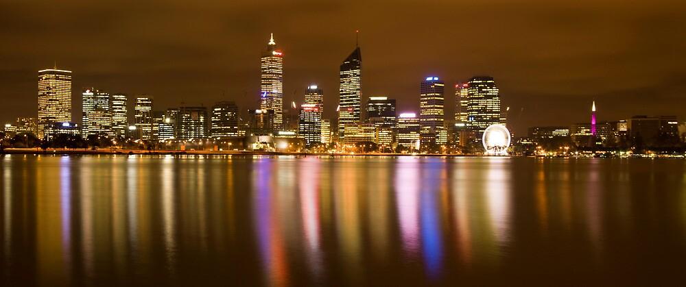 Perth at night by barnesie