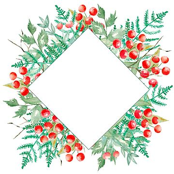 forest wreath, red  berries , fir cones, leaves  by ArtOlB