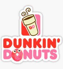 Pegatina Rosado logo Dunkin Donuts