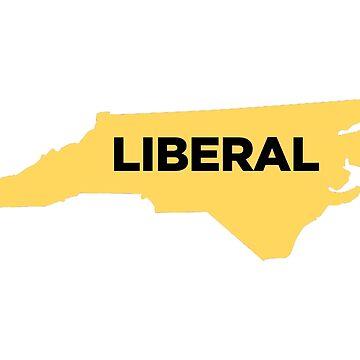 Liberal North Carolina - yellow by wokesouth