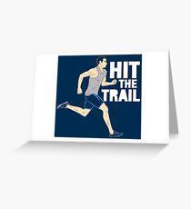 Hit The Trail Running Vintage - Funny Marathon Gift Grußkarte