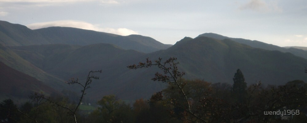 Ullswater Mountains in Cumbria by wendy1968