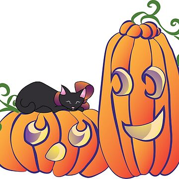 Pumpkins and Kittens by amyelyse