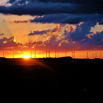 Wind Farm Sunset  by Gypsykiss