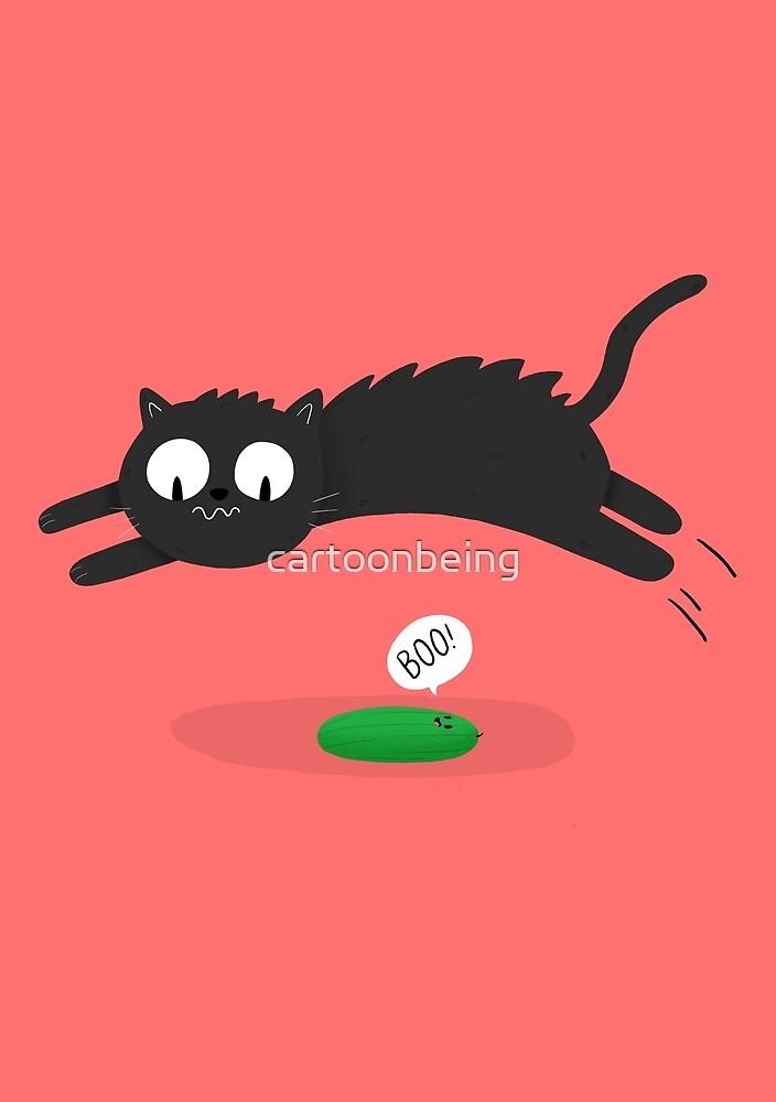 Scaredy Cat by cartoonbeing