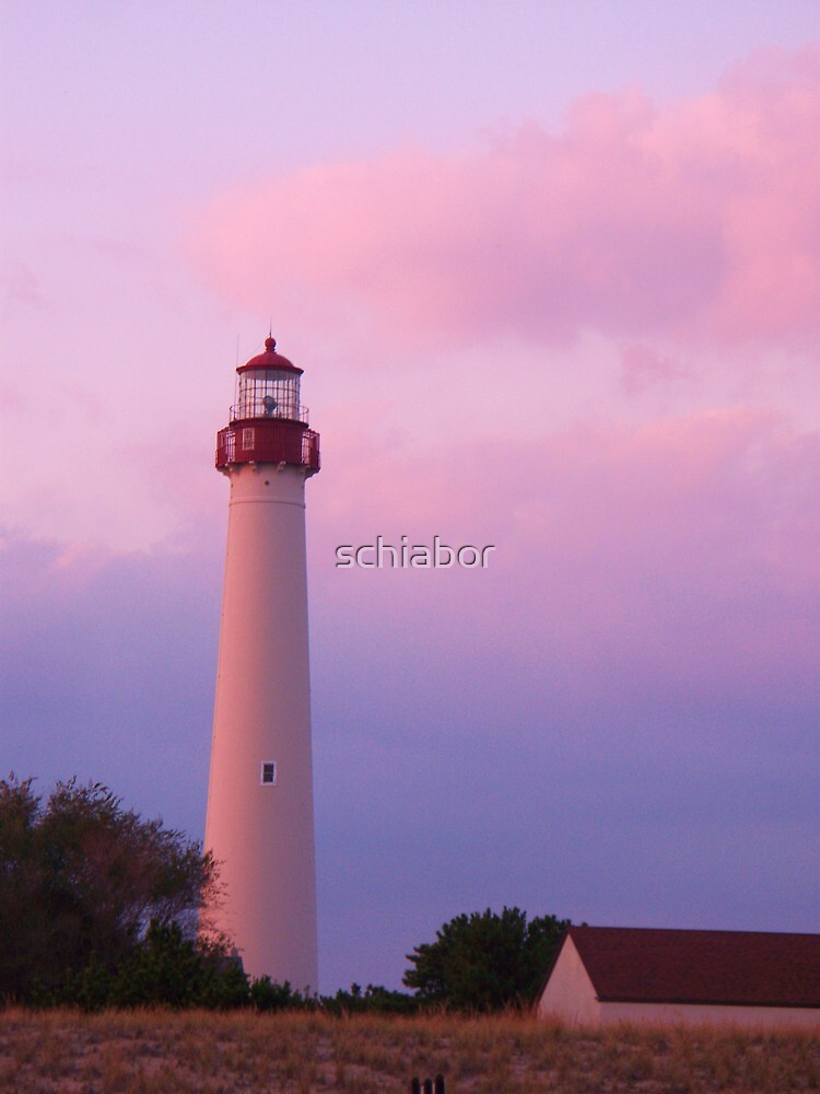 Lighthouse At Cape May by schiabor