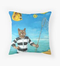 The Elusive Butterfly - fantasy painting Throw Pillow