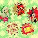 KITSCH CHRISTMAS COLLAGE (LIZ SELLEY ART) by LizSelleyArt