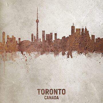 Toronto Canada Rust Skyline by ArtPrints