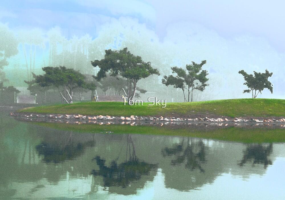 Trees in Water by Tom-Sky