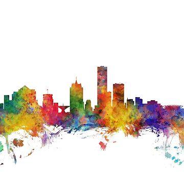 Milwaukee Wisconsin Skyline by ArtPrints