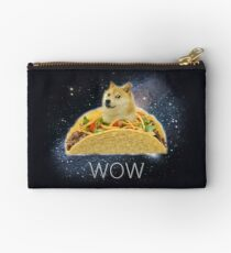 Doge WOW Tacos in Space memes with stars Kekistan Shiba Inu #DogRight doggo Studio Pouch