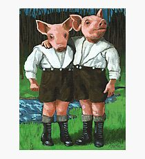 The Tweedle Brothers - fantasy oil painting Photographic Print