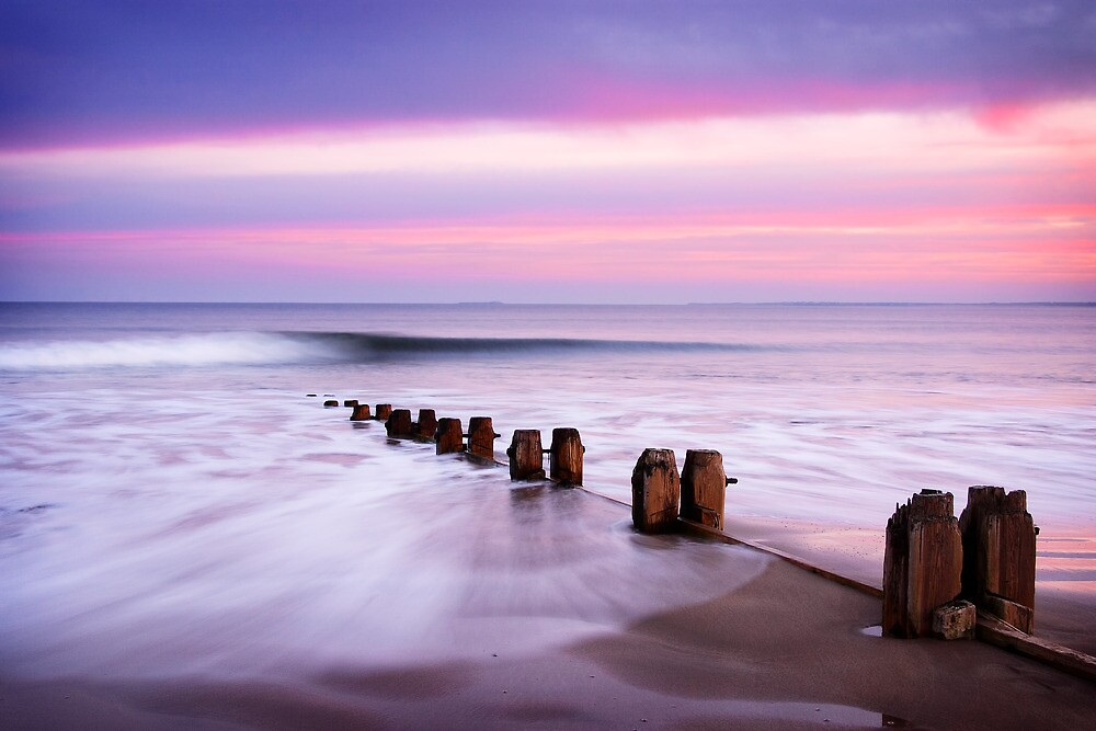 The Perfect Wave, Alnmouth Beach by Robin Whalley