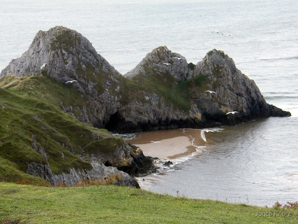 Three cliffs Bay by Joyce Knorz