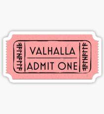 Valhalla-Eintrittskarte Sticker