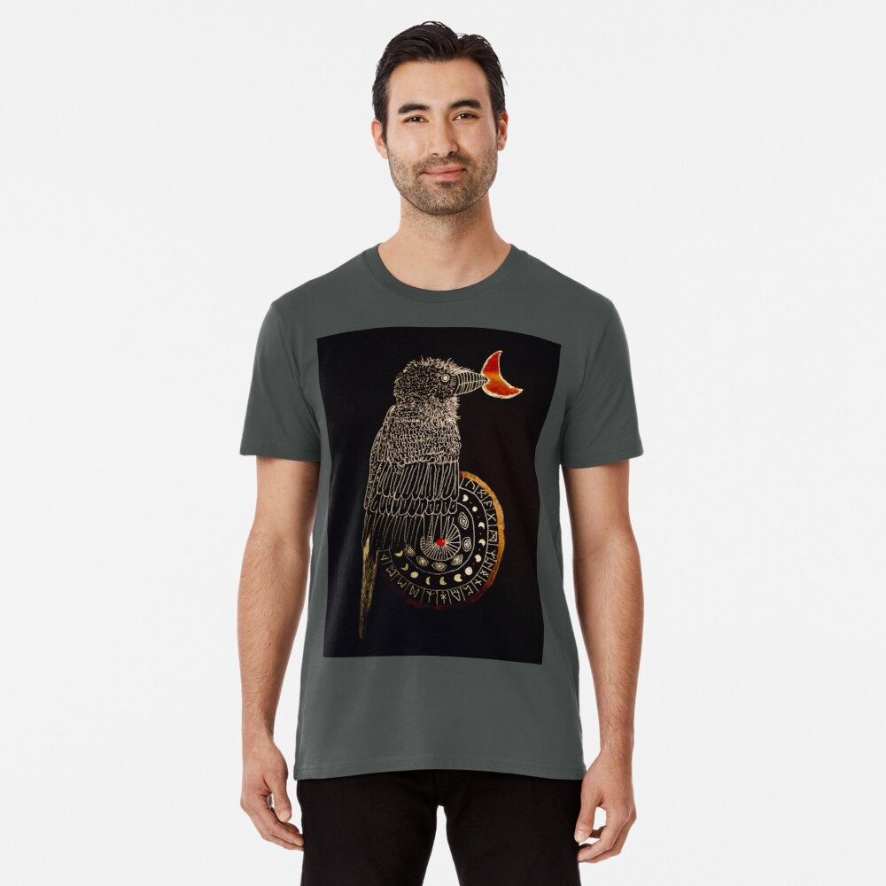 Goldener Rabe Premium T-Shirt