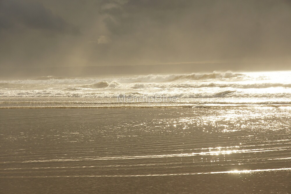 Atmospheric View of Beach at Croyde in North Devon by MendipBlue