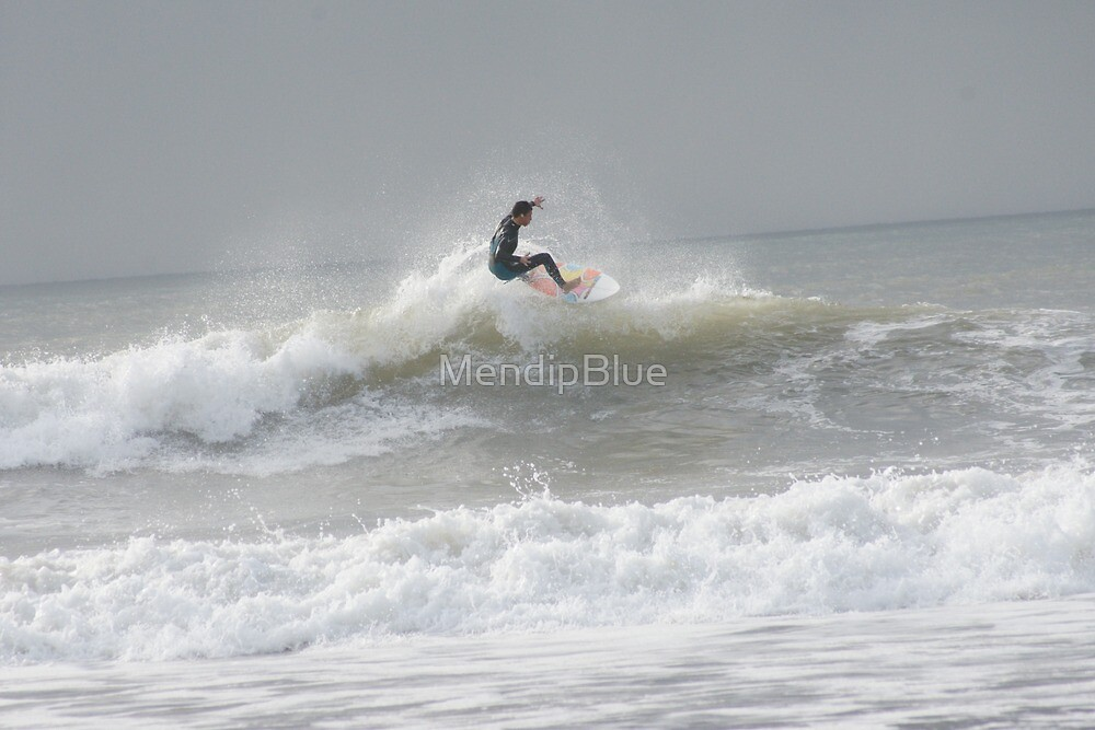Surfer at Croyde by MendipBlue