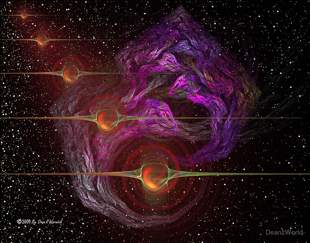 Fractals In Space by Dean Warwick
