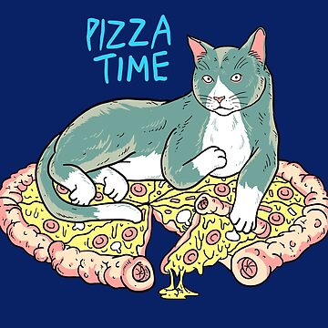 Pizza Time Cat by machmigo