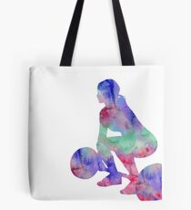 Female weightlifter, deadlift pick, woman weightlifter, weightlifting Tote Bag