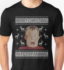 Christmas Home Alone Filthy Animals Knit Unisex T-Shirt