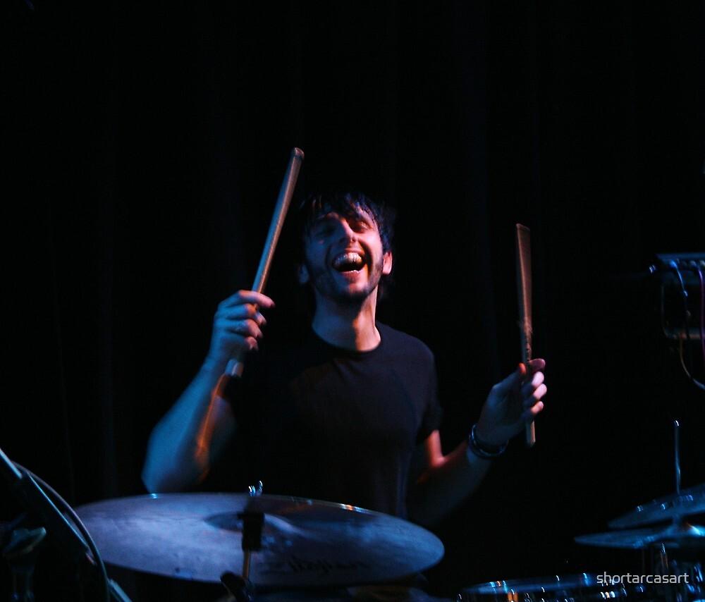 Happily drumming away by shortarcasart