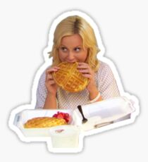 Leslie Knope Eating a Waffle Sticker